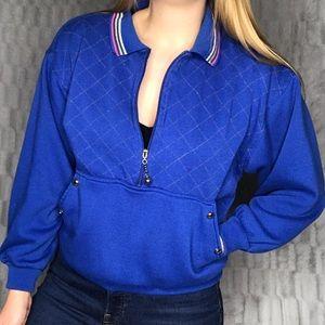 Vintage 90's Quarter Zip Pullover Sweatshirt Top